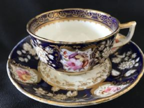 SOLD COALPORT New embossed shape cup & saucer